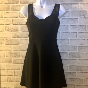 Forever 21 Black Sheer Strap Dress, S
